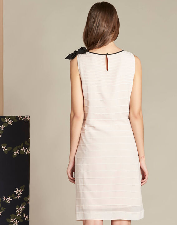 Ines silk pale pink dress with frilled detailing (4) - 1-2-3