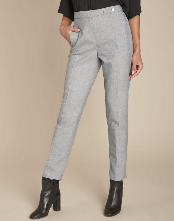 Pantalon gris chiné cigarette Eloi PhotoZ | 1-2-3