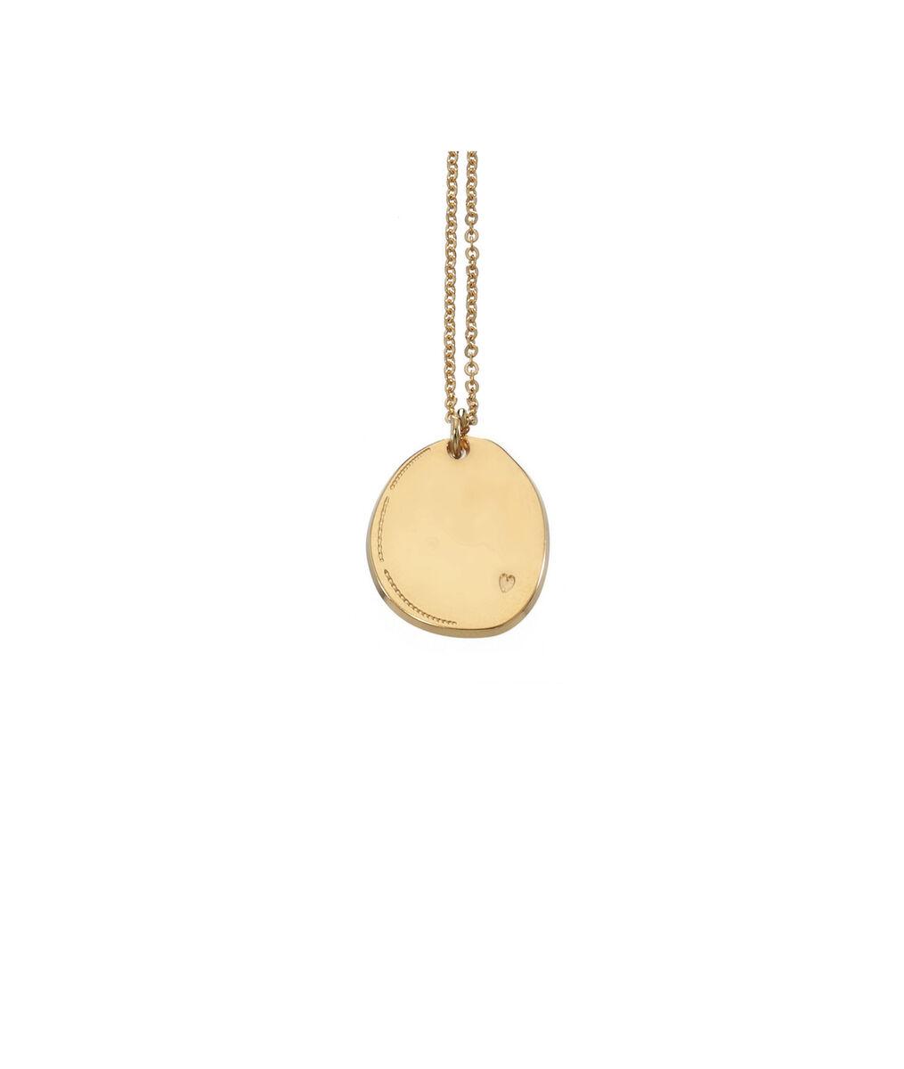 Collier médaille ovale or cœur Bijoux Léone PhotoZ | 1-2-3