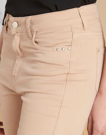 Beigefarbene 7/8-slim-fit-jeans vendome beige.