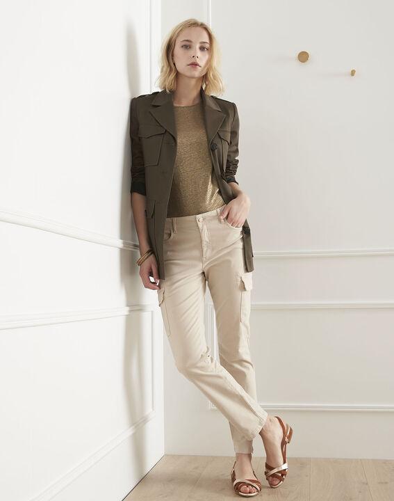 Pantalon crème cargo Carolina (2) - Maison 123