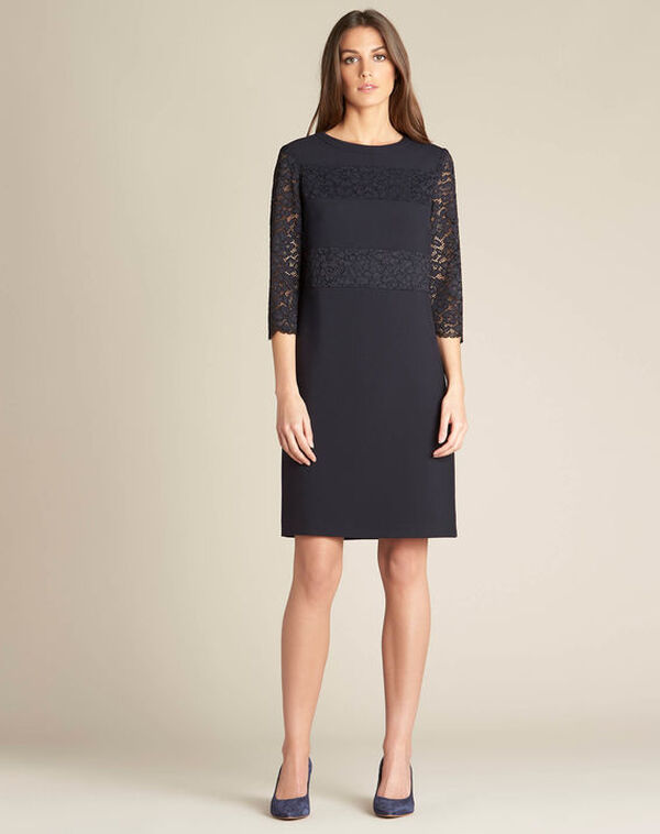 Polly navy blue lace dress (2) - 1-2-3