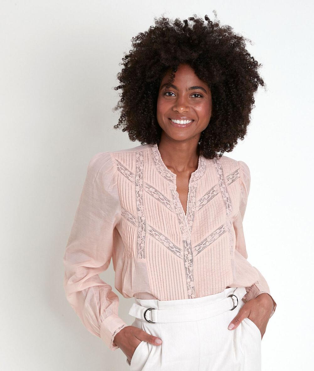 KIACIYA Chemisier Femme Chic Motif Chat G/éom/étrique Imprim/é Col en V Chemise Blouse T-Shirt /à Manches Longues /Él/égant Grande Taille Tops Sweat-Shirt Hauts Vetement