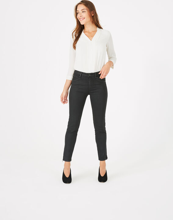 Pantalon noir enduit 7/8ème Pia (3) - 1-2-3