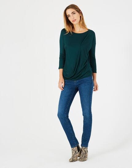 Tee-shirt vert forêt col rond Bree (3) - 1-2-3
