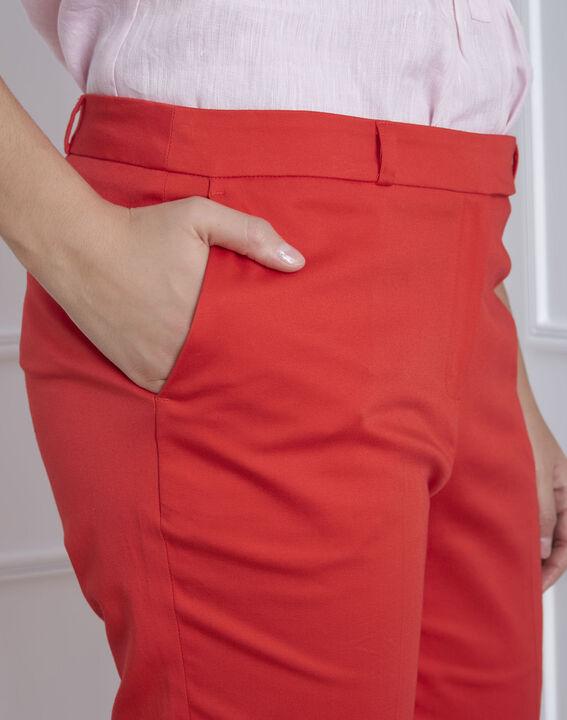 Pantalon corail cigarette Rubis (3) - Maison 123