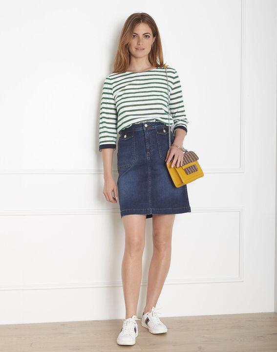 Tee-shirt vert rayures brillantes Payure (1) - Maison 123