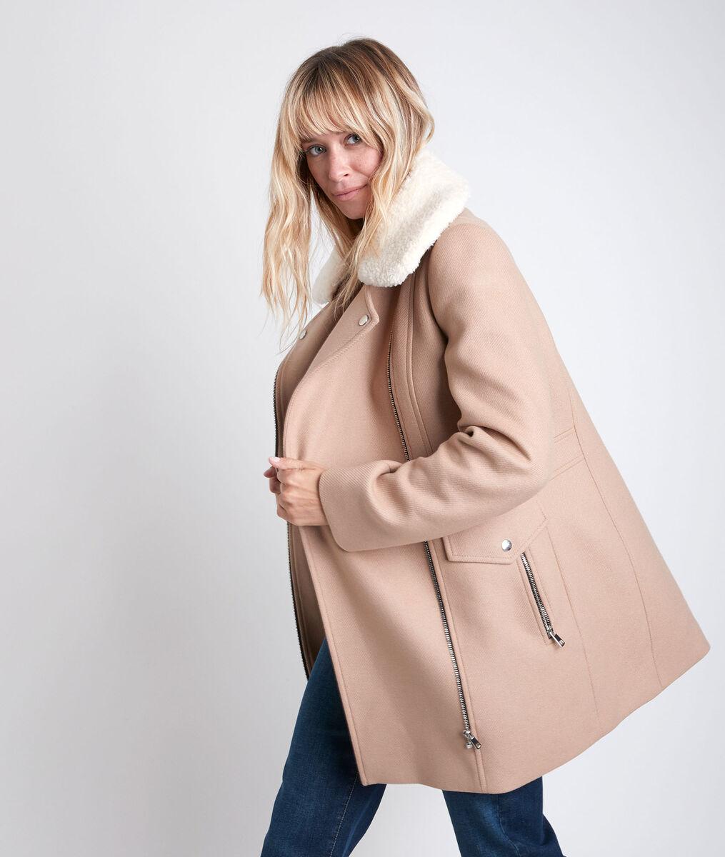 Manteau en laine à capuche Oryane PhotoZ | 1-2-3