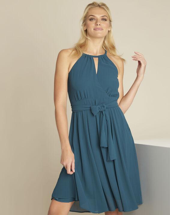 Nancy emerald green fitted dress PhotoZ | 1-2-3