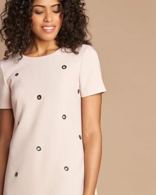 Robe rose pâle avec œillets Adélie bis (2) - 1-2-3