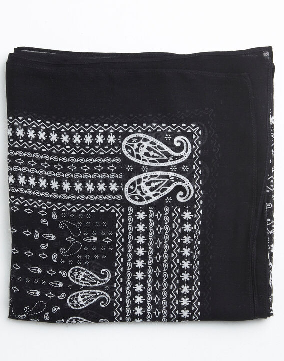 Zwart en wit sjaaltje met bandanaprint Amor (2) - 37653