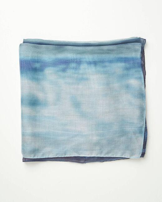 Aloha tie dye effect blue scarf (2) - 1-2-3