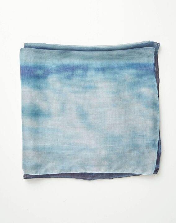Foulard effet tye and dye bleu Aloha (2) - 1-2-3