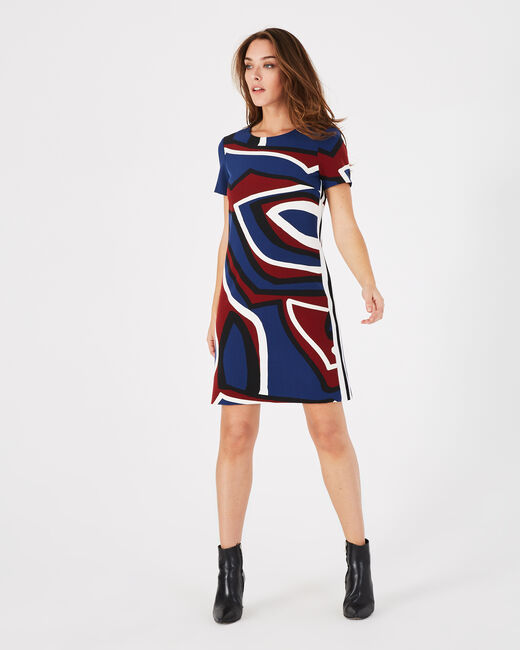 Air navy blue printed dress (1) - 1-2-3