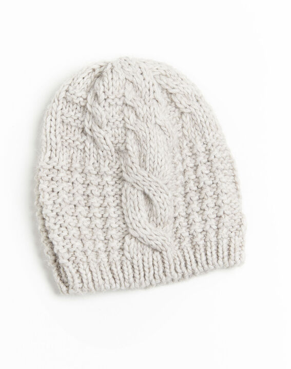 Utopia ecru wool hat with decorative stitches (2) - 1-2-3