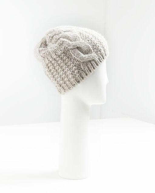 Bonnet écru point fantaisie en laine Utopia (2) - 1-2-3