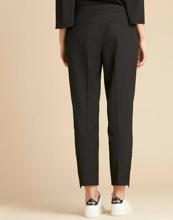 Pantalon de tailleur à pinces détails dentelle Valero (4) - 1-2-3