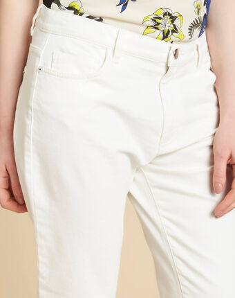 Jean blanc boyfriend taille basse vavin blanc.