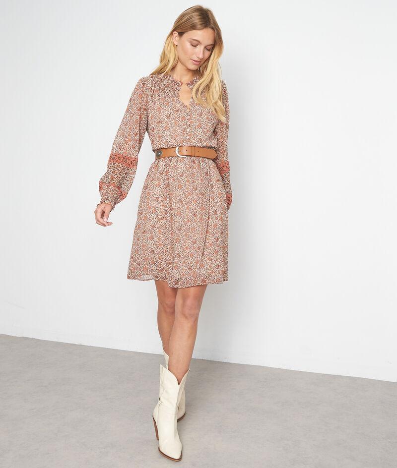 Oudroze korte jurk met print Sharon PhotoZ | 1-2-3