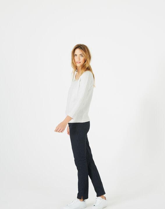 Pop ecru sweater with stunning stitchwork (4) - 1-2-3