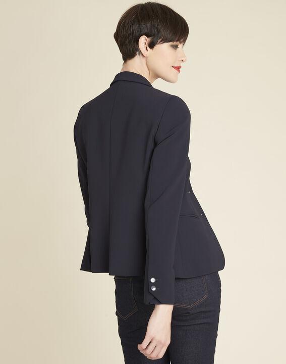 Eve navy blue short tailored jacket (4) - 1-2-3