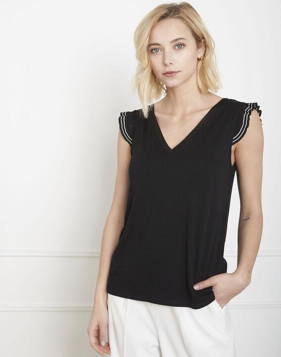 Tee-shirt noir volants Paulina PhotoZ | 1-2-3