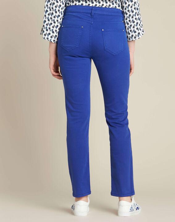 Königsblaue Slim-Fit-Jeans normale Leibhöhe Vendome (4) - 1-2-3