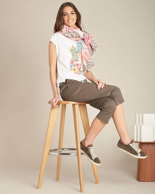 Tee-shirt écru Ananas Emerveille (2) - 1-2-3