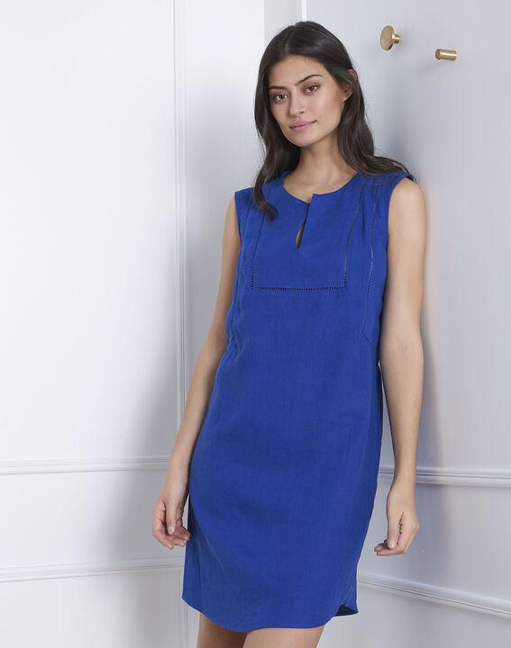 Robe bleue encolure décorée Lolita (1) - Maison 123