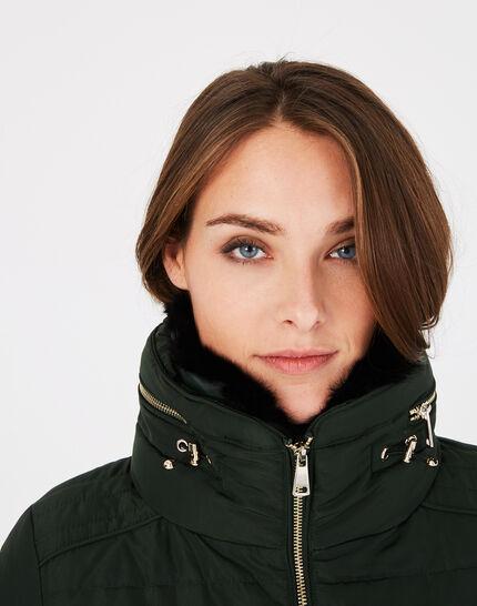 Laure short pine green puffer jacket (3) - 1-2-3