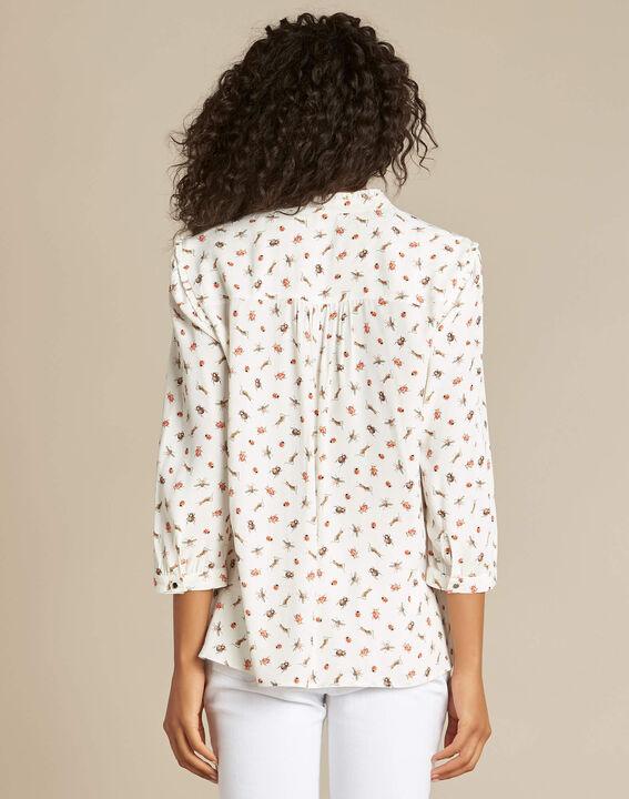 Grillon ecru shirt with beetle print (4) - 1-2-3