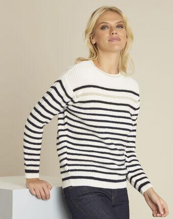 Barbapapa striped ecru pullover ecru.