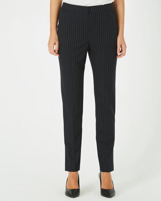 Pantalon noir de tailleur à rayures Vicky (1) - 1-2-3