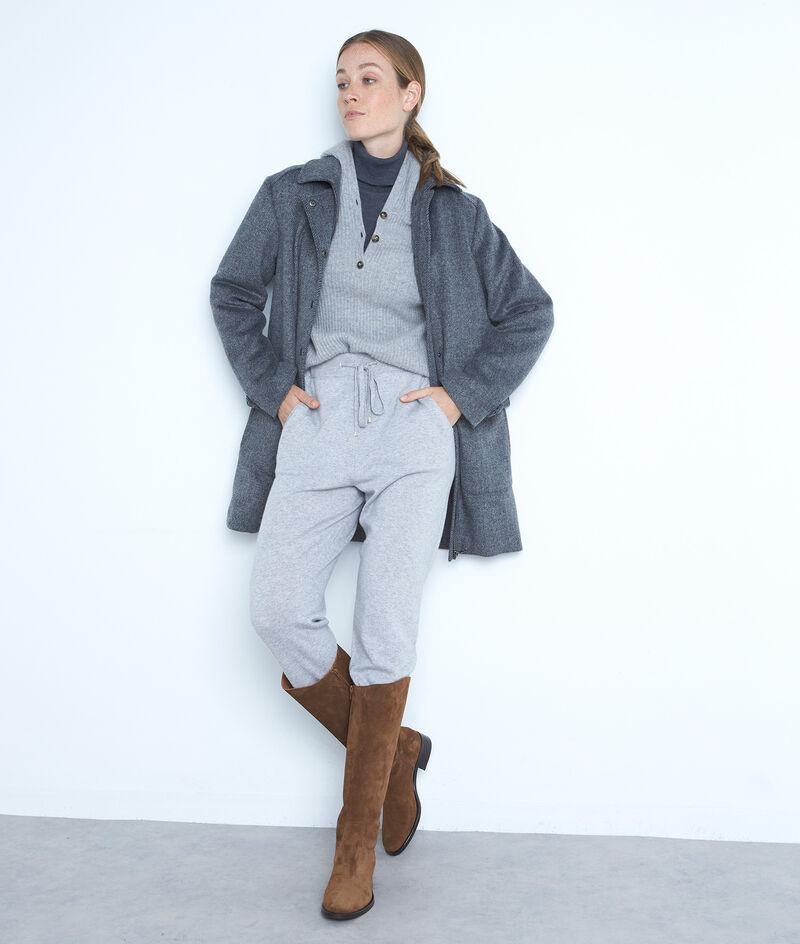 Manteau en laine gris anthracite LUANA PhotoZ   1-2-3