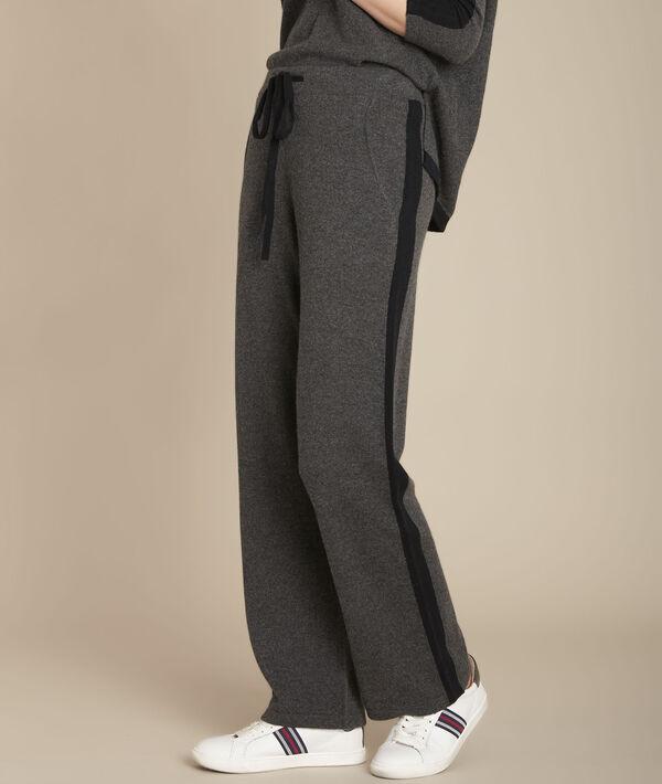 Pantalon en cachemire large anthracite Flashback PhotoZ | 1-2-3
