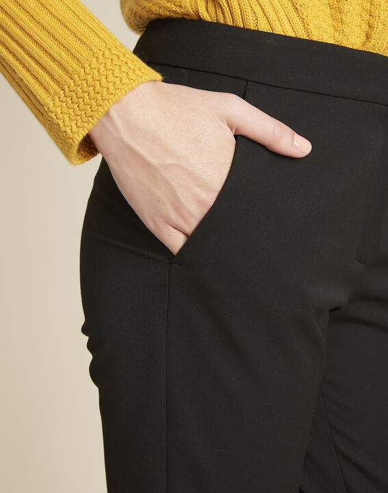 Helsy black cigarette-cut trousers (3) - 1-2-3