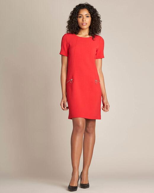 Robe droite rouge Amanda (1) - 1-2-3