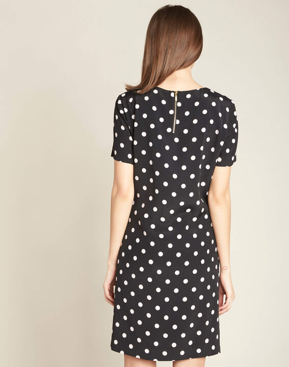 People black straight-cut polka-dot dress (4) - 1-2-3