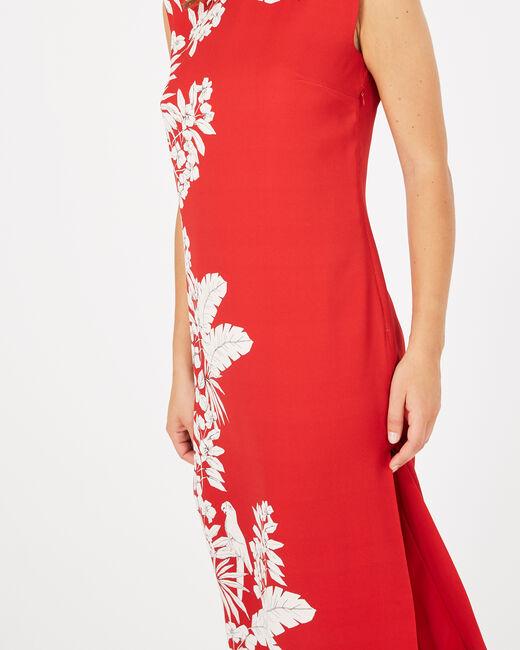 Rotes Print-Kleid Asmar (1) - 1-2-3