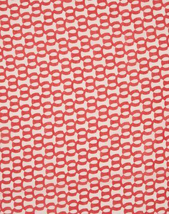 Foulard rouge imprimé emilia grenade.