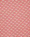 Foulard rouge imprimé Emilia (2) - 1-2-3