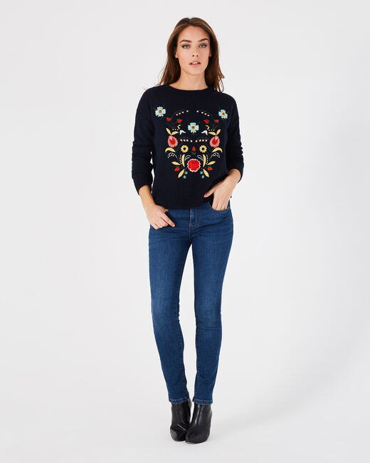 Pistil navy embroidered sweater (1) - 1-2-3