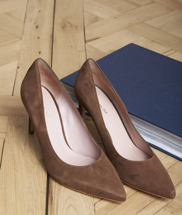Escarpins en cuir velours ébène Kelly PhotoZ | 1-2-3