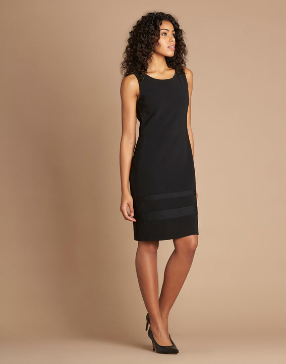 Abricot sleeveless straight-cut black dress (3) - 1-2-3