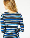 Portland striped blue sweater with rounded neckline (5) - 1-2-3