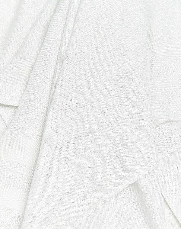 Ecru sjaal met strepen van lurex Fortune (1) - 37653