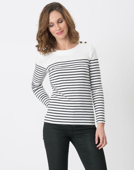T-Shirt mit marineblauen Streifen Naval PhotoZ | 1-2-3