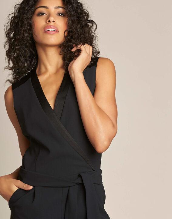 Gloria tuxedo-style black jumpsuit (2) - 1-2-3