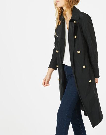Jessy mid-length black trench coat (2) - 1-2-3