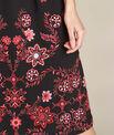 Robe noire brodée mi-longue Pavlova PhotoZ | 1-2-3